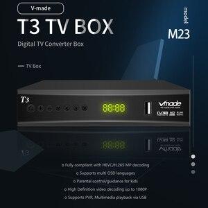 Image 2 - Vmade DVB T2 حامل صندوق التلفزيون يوتيوب H.265 Dobly + USB واي فاي DVB T3 موالف التلفزيون USB 2.0 HD الرقمي الأرضي مستقبل التلفاز مع سكارت