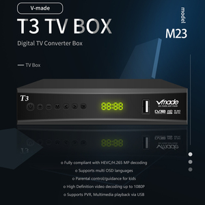 Image 2 - Vmade DVB T2 tv box di sostegno youtube H.265 Dobly + USB WIFI DVB T3 TV tuner USB 2.0 HD Digitale terrestre Ricevitore TV con scart