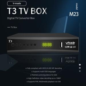 Image 2 - Vmade DVB T2 ТВ приставка с поддержкой youtube H.265 Dobly + USB wifi DVB T3 ТВ тюнер USB 2,0 HD цифровой эфирный ТВ приемник с scart