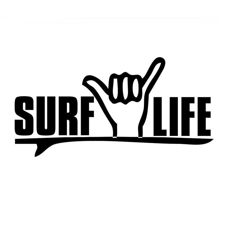17.3*8.7CM I Love Surfing Creative Funny Decal Vinyl Window Decoration Accessories Motorcycle Car Sticker C8-1512