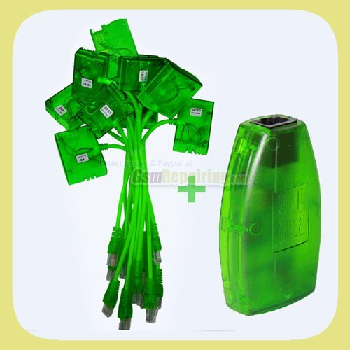 Green MX Box  (HTI / mxbox) + 11 SL3 Cables for Nokia Unlock & Flash + Free Shipping