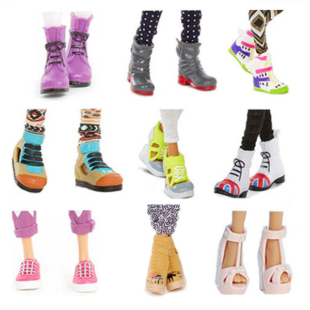 Ban đầu Công Chúa Búp Bê Giày cho MC2 Búp Bê Phụ Kiện Trẻ Em của Đồ Chơi của Phụ Nữ Cao Gót Chân Phẳng Phẳng Giày Boots Phong Cách cho cô gái