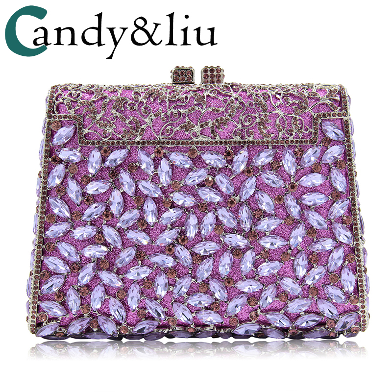 socialite bag 2018 luxury purple crystal diamond-encrusted dinner bag high-end outside full rhinestone evening wear clutch bag evening bags 2018 european american high end crystal full evening bag luxury diamond foreign trade dinner bag hollow bag