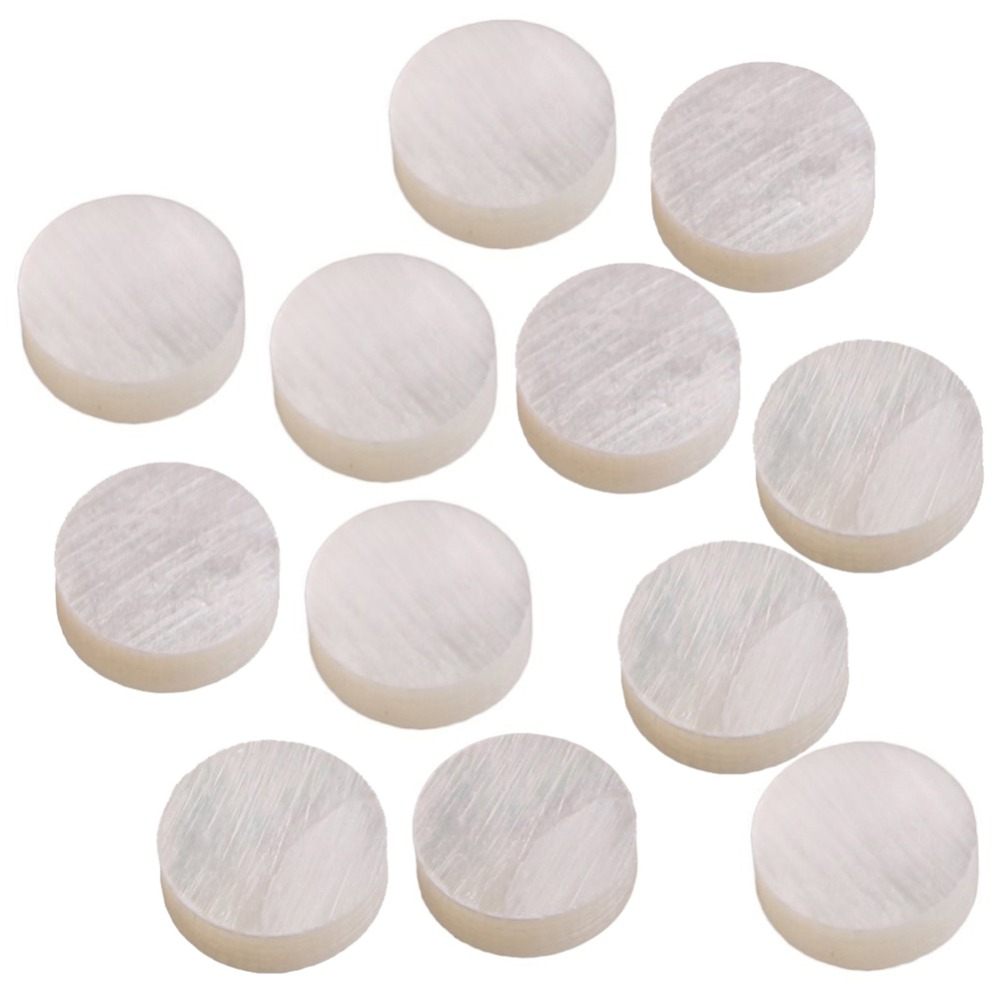 Hlby White Mother Of Pearl Shell Dot Fret Inlay Maker 6mm For Guitar Fingerboard Modern Techniques pack Of 20