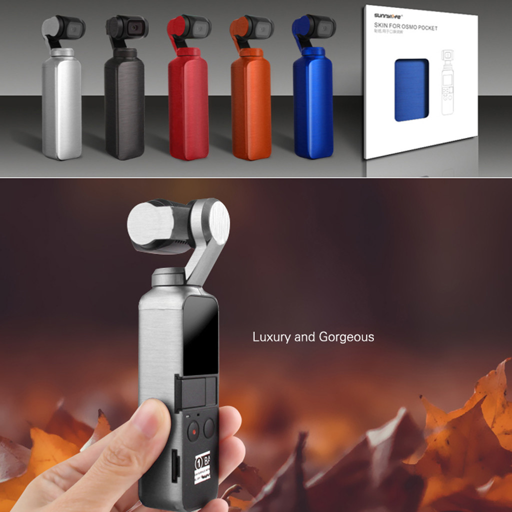Fashion Solid Color Sticker Luxury Metallic Color Skin Waterproof PVC Stickers For DJI OSMO Pocket Metal Brushed Texture Film