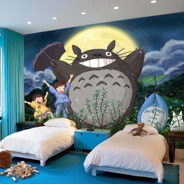 My Neighbor Totoro Wallpaper 3D Japanese Anime Photo Cartoon Mural Kids Boys Girls Room Decor