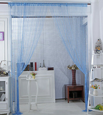 Image 2 - Fashion String Window Door Curtain Backdrop Blind Panel Tassels Valance Room Decor Living-in Curtains from Home & Garden
