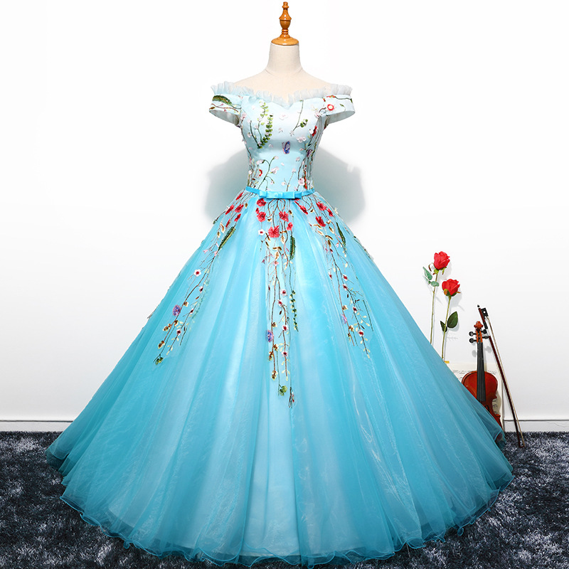 Sweet 16 Ball Gowns 100% Real Photo In Stock Luxury Applique Quinceanera Dresses New Arrivals Short Sleeves Party Dress