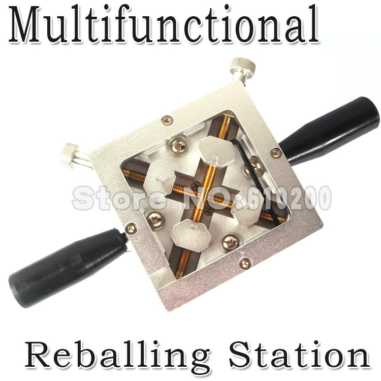 Free Shipping New Products Multifunctional BGA Reballing Station tool With Handgrip Reballing kit Stencil Holder Jig 90mm*90mm best price mgehr1212 2 slot cutter external grooving tool holder turning tool no insert hot sale brand new
