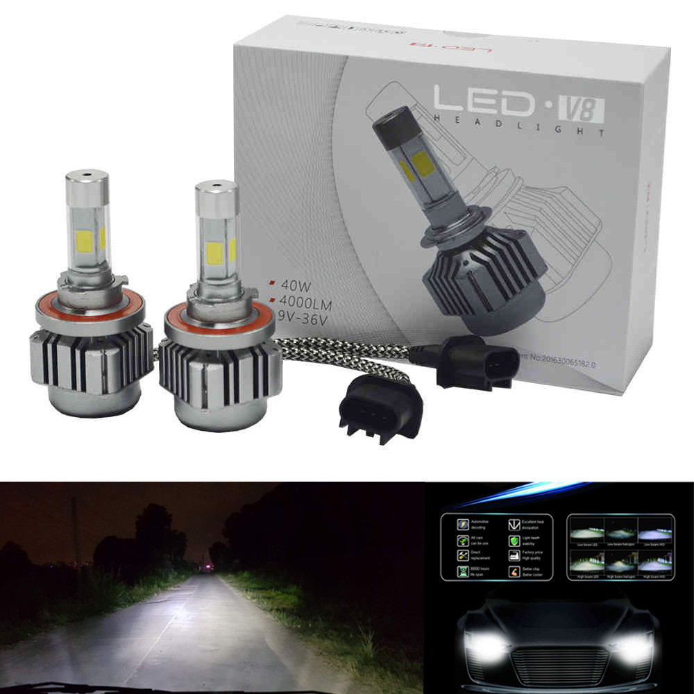 hot sale NEW 80W 8000LM CREE chips LED H13 Headlight Kit Low Beam Bulbs 6000K White Bulbs very nice Vicky