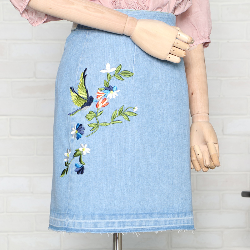 Compare Prices on Colored Denim Skirt Knee Length- Online Shopping ...
