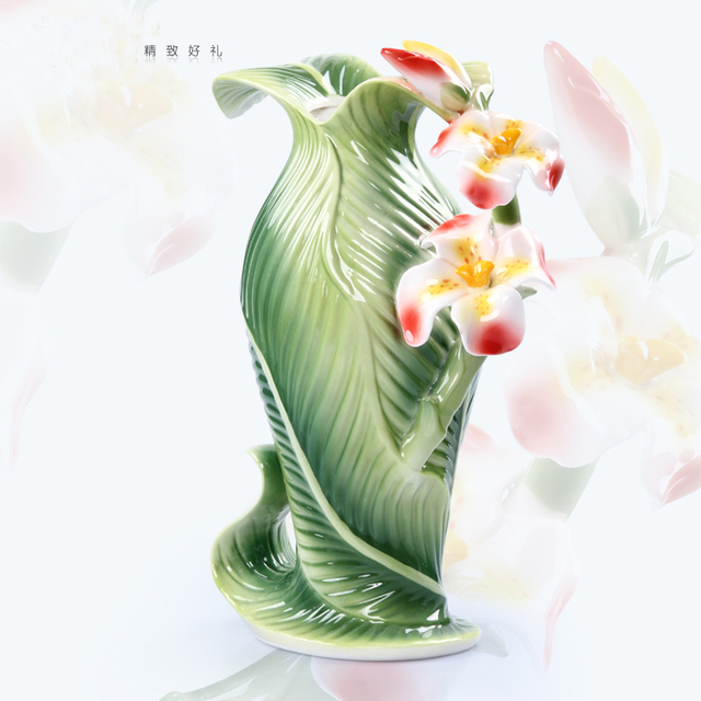 Ceramic Canna Indica L Flowers Vase Home Decor Large Floor Vases For