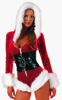 Fashion New Arrival 2016 Winter Hot Sale Sexy Christmas Costumes Night Adult Holiday Romper Lingerie Costume