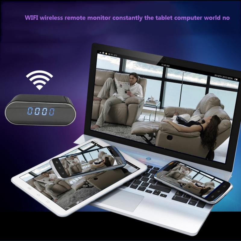 Wifi Alarm Clock With HD 1080P Night Vision Camera Wifi