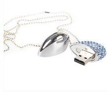 100pcs/lot beauty crystal heart Jewelry model usb2.0 flash drive 4GB 8GB 16GB 32GB 64GB Pen drive thumb usb accept print logo