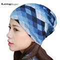 LongKeeper Elegant Women's Hats Spring Autumn Winter Casual Brand Hats for Women Plaid Lady Caps Colorful Beanies 2016 New