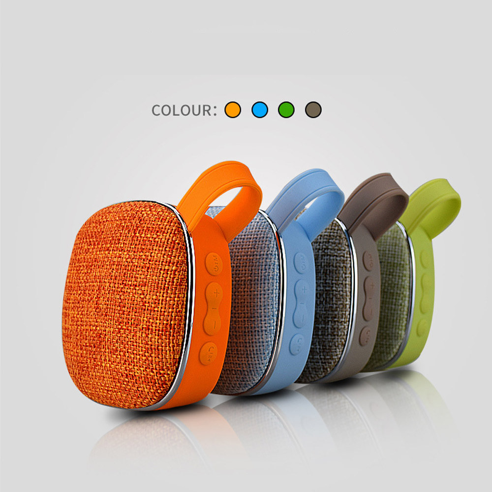 HOT Fashion Portable Handheld Made of cloth FM Radio Bluetooth Speaker Tfcard Wireless Speaker Special Design