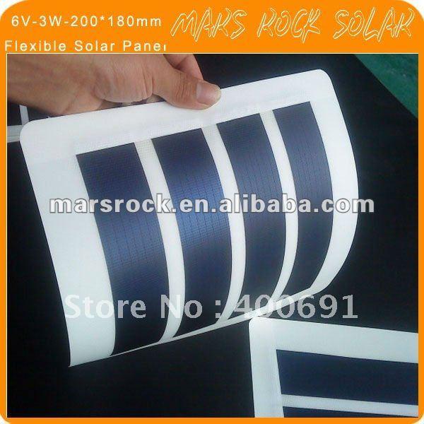 6V-3W-230*190 мм гибкий Аморфный Кремний Солнечная фотоэлектрическая панель