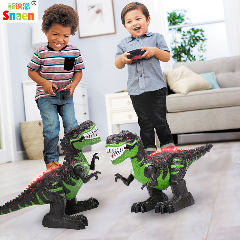 Snaen Remote Control Dinosaur Electric RC Toys Walking Tyrannosaurus Rex Rechargeable Dino for Boys Kids with
