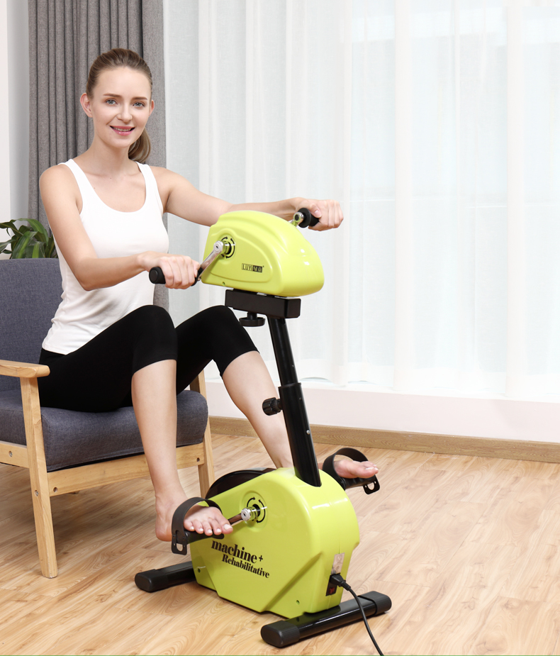 Medical Portable Pedal Exerciser, Sitting Posture Leg Trainer and Physiotherapy Machine Upper and Lower Limb Strength Rehabilita
