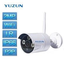 2-МЕГАПИКСЕЛЬНАЯ Камера Безопасности открытый Водонепроницаемая Камера IP66 IP Пуля Камеры ИК Ночного Видения беспроводной Камеры ONVIF P2P ИК