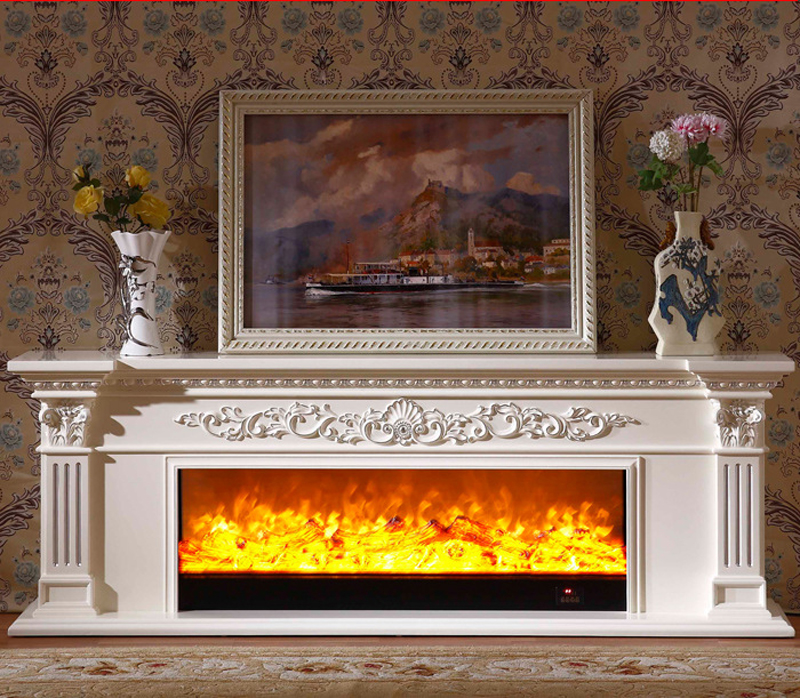 Sensational Us 865 0 Living Room Decorating Warming Fireplace Wooden Fireplace Mantel W200Cm Electric Fireplace Insert Led Optical Artificial Flame In Download Free Architecture Designs Rallybritishbridgeorg