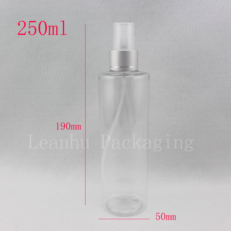 250ml x 20 clear refillable empty spray perfume bottle ,250cc fine mist bath and body works plastic container with pump atomizer