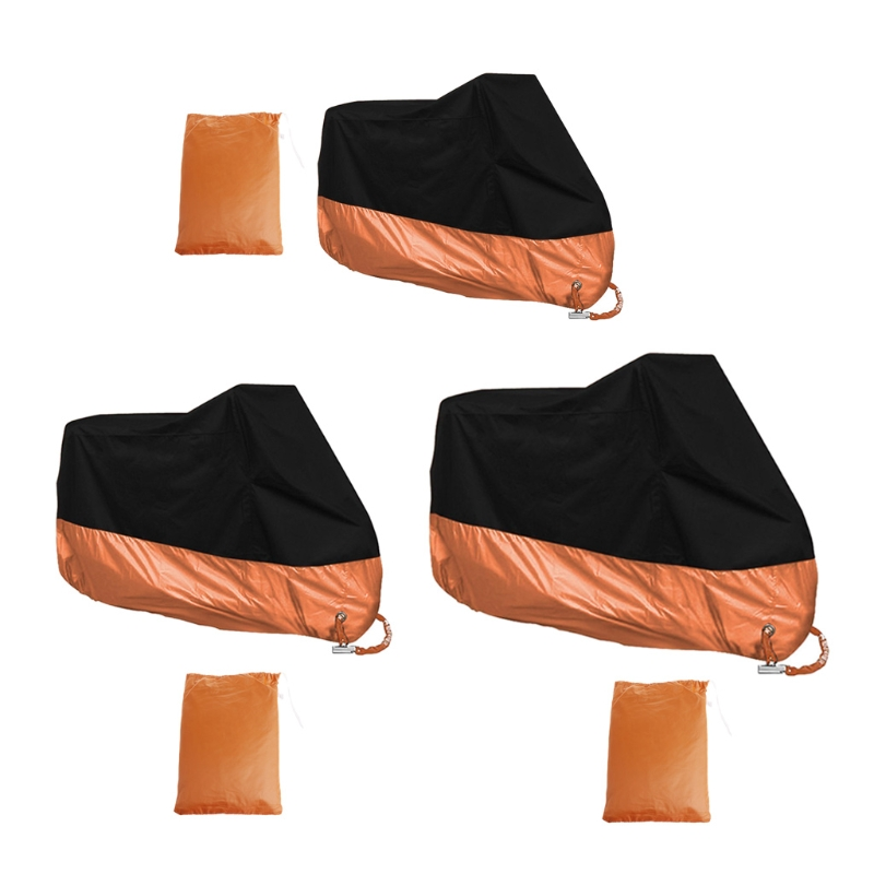 Free Delivery Orange L/XL/XXXL Motorcycle Cover Waterproof For Harley Davidson Street Glide Touring Drop Shipping