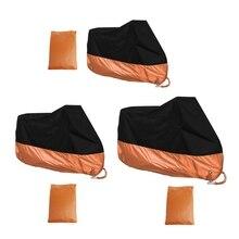 Consegna gratuita arancione L/XL/XXXL copertura moto impermeabile per Harley Davidson Street Glide Touring Drop shipping