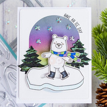 Naifumodo Animal Bear Stamps and Dies Scrapbooking Polar Penguin for Craft Cards Making Clear Stamps Metal Cutting Dies New 2019 naifumodo feather clear stamps and metal cutting dies scrapbooking 2019 new making cards craft dies set embossing decor stencils