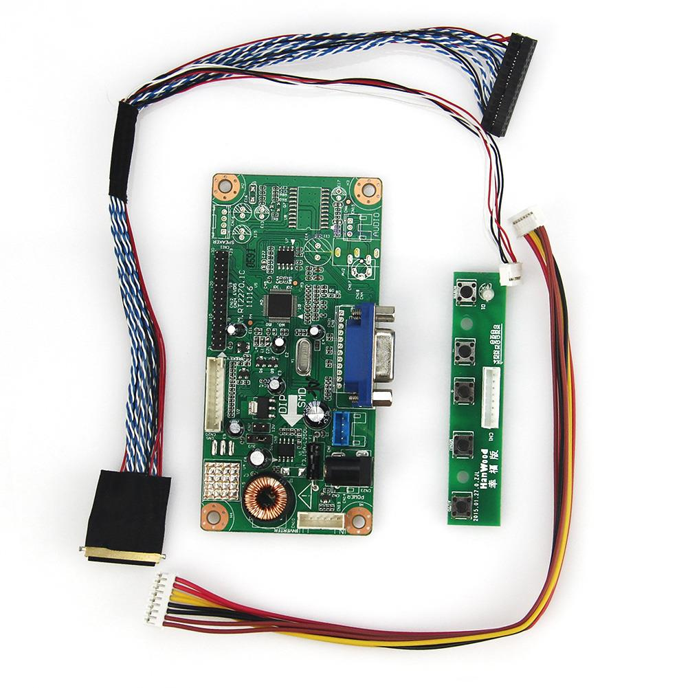 LCD/LED Controller Driver Board(VGA)  M.RT2270 For PQ 3QI-01 LVDS Monitor Reuse Laptop 1024x600