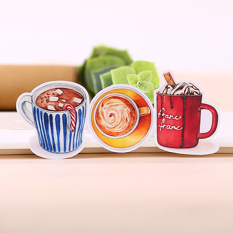 20pcs Creative Cute Self-made Hot Drinks In Winter Scrapbooking Stickers /decorative Sticker /DIY Craft Photo Albums  Waterproof