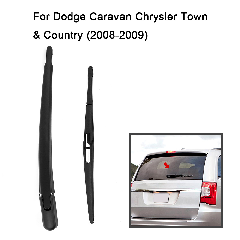 Car rear window windshield wiper arm blade complete replacement for dodge caravan chrysler town