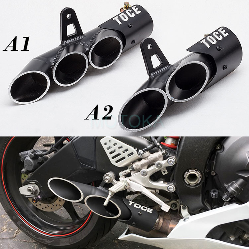 Universal TOCE Motorcycle Exhaust Muffler Pipe For R6 ZX6R