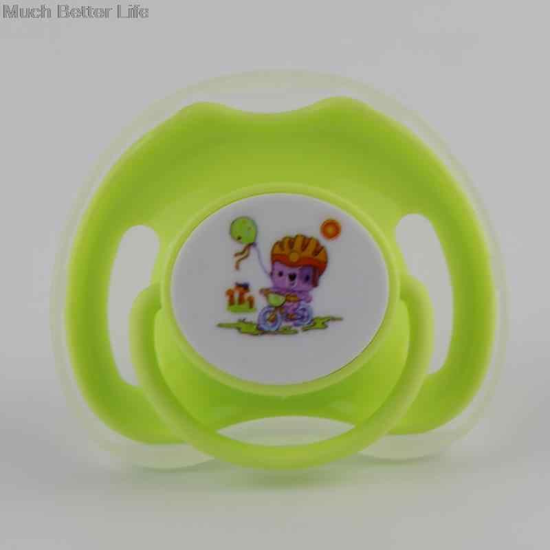 2 pcs การ์ตูนสัตว์รูปแบบเด็ก Care เด็กซิลิโคน Pacifier แบน Teether จุกนมหลอก Love Heart Shape Handle
