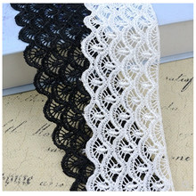 7cm wide black and white lace clothing accessories clothes skirt hem DIY decoration hollow thick quality fabric