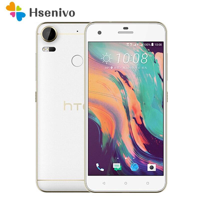 HTC Desire 10 Pro téléphone portable d'origine 4 GB RAM 64 GB ROM LTE Octa Core Android OS 6.0 double SIM 20MP 5.5 téléphone portable reconditionné