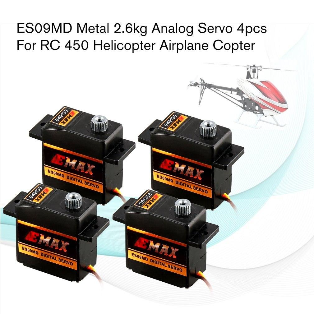 EMAX デジタルメタルギアサーボ ES09MD 4.8 6 V 2.6 キロ 0.10/0.08 秒/60 度 RC 450 ヘリコプター飛行機ヘリコプターアクセサリー  グループ上の おもちゃ & ホビー からの パーツ & アクセサリー の中 1