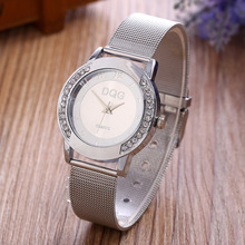 2017 New Gold Metal Mesh Stainless Steel Women Watches Crystal Casual Quartz Watch Women Clock Relogio Feminino Ladies Watch Hot new brand dqg gold metal mesh stainless steel women watches crystal casual quartz watch women clock relogio feminino hot sale
