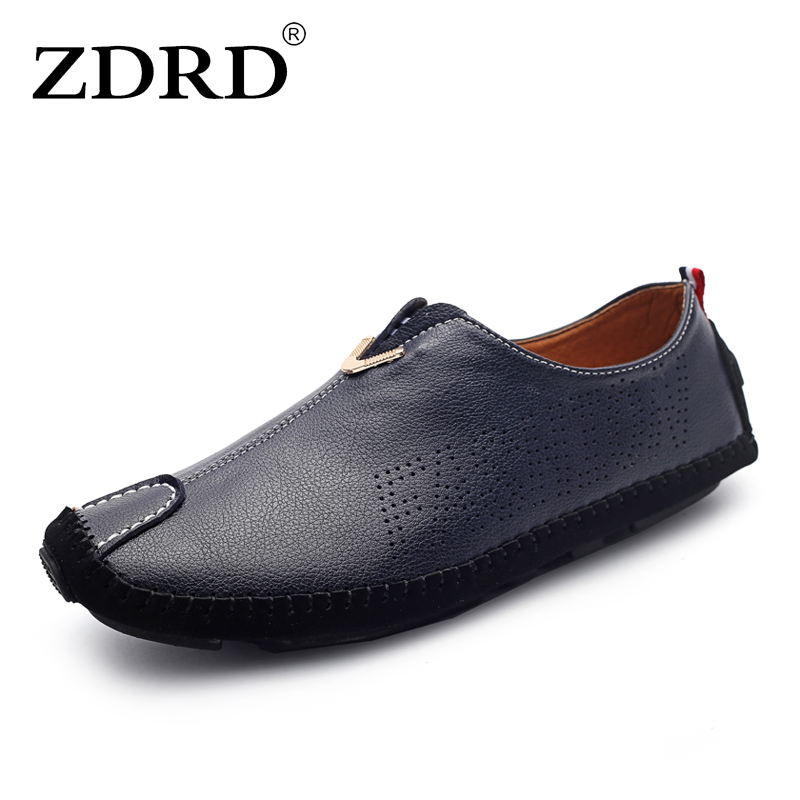 ZDRD Men casual Genuine Leather Shoes male Slip On Black loafers Shoes Real Leather Loafers Men Moccasins Shoes oxford boat Shoe clax men shoes luxury brand loafers genuine leather male driving shoes slip on black dress shoe moccasin designer classical