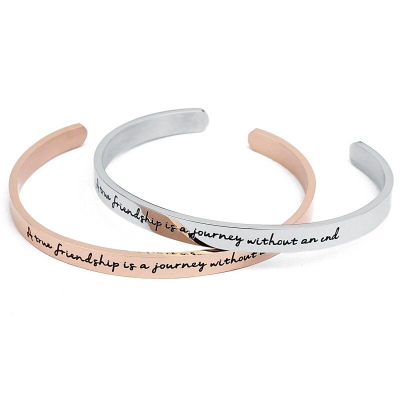Frauen Schuhe Frauen Sandalen UnabhäNgig Edelstahl Armreifen Gravierten Positive Inspirierend Zitat Hand Geschnitzte Buchstaben Manschette Mantra Armband Für Frauen Besten Geschenke