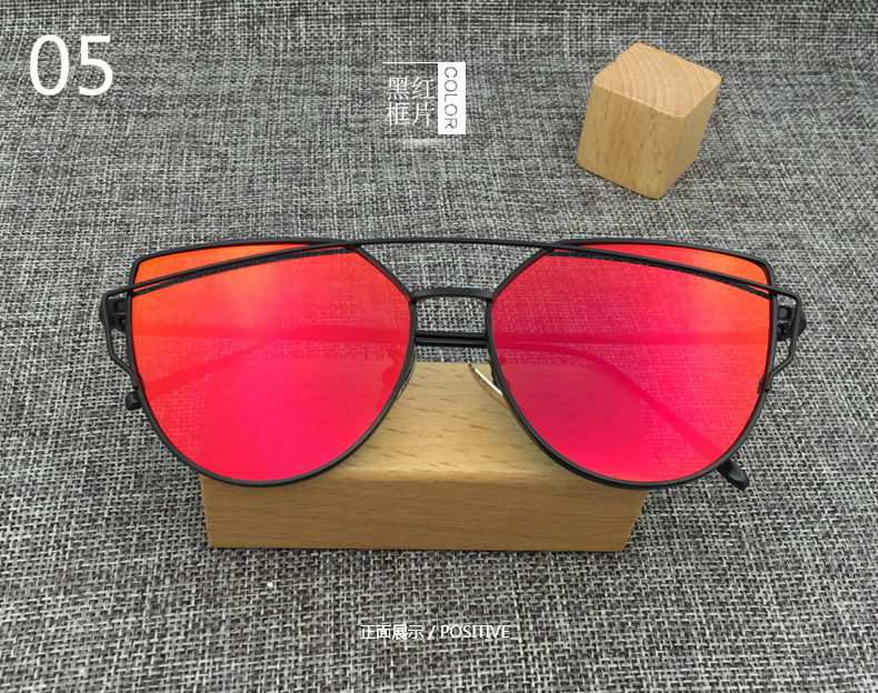 2018 New Cat Eye Aviator Sunglasses Women Vintage Fashion Metal ...