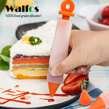 WALFOS  Cake Decorating Pen 100% Food Grade Silicone Writing Cookie Cream Pastry Chocolate