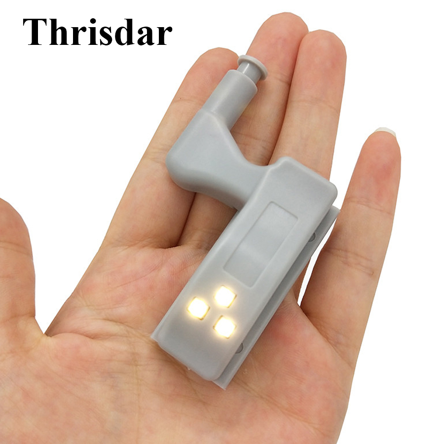 Thrisdar 0.25W Inner Hinge LED Sensor Light Kitchen Bedroom Cabinet Hinge Night Light Cupboard Wardrobe Furniture Light