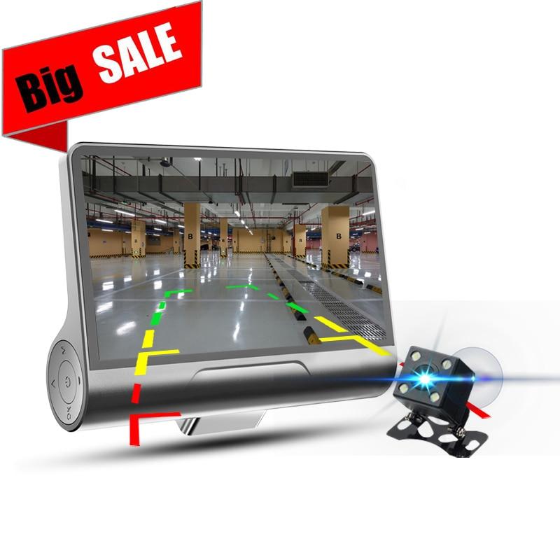 OTFPlus Автомобильный dvr двойной объектив высокой четкости 1080 P ночного видения водонепроницаемый видеорегистратор Бесплатная доставка