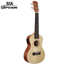 Musical Instruments 23 Inch Four Strings Electric Guitar 17 Frets Ukulele  Arched Guitar Spruce Sapele Mini guitarra UC-510EQ недорго, оригинальная цена