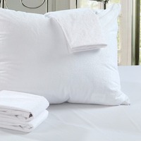 One Pair All Size Cotton Terry Waterproof Pillow Protector Dust Mite Bacteria Allergy Control Bed Bug