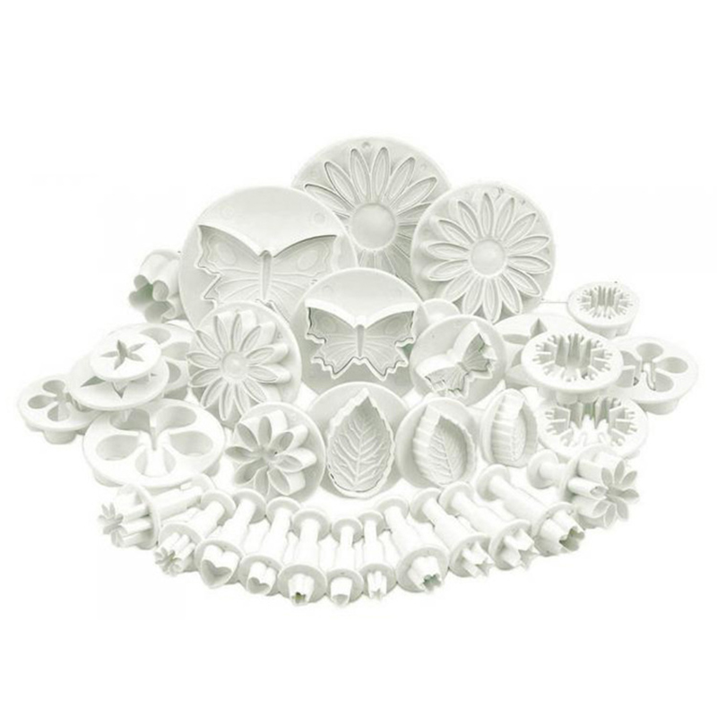 33pcs/set Plastic Flower Fondant Cake Decorating Tools Sugar Craft Plunger Cutter Baking Cookies Mold Kitchen Tool(China)