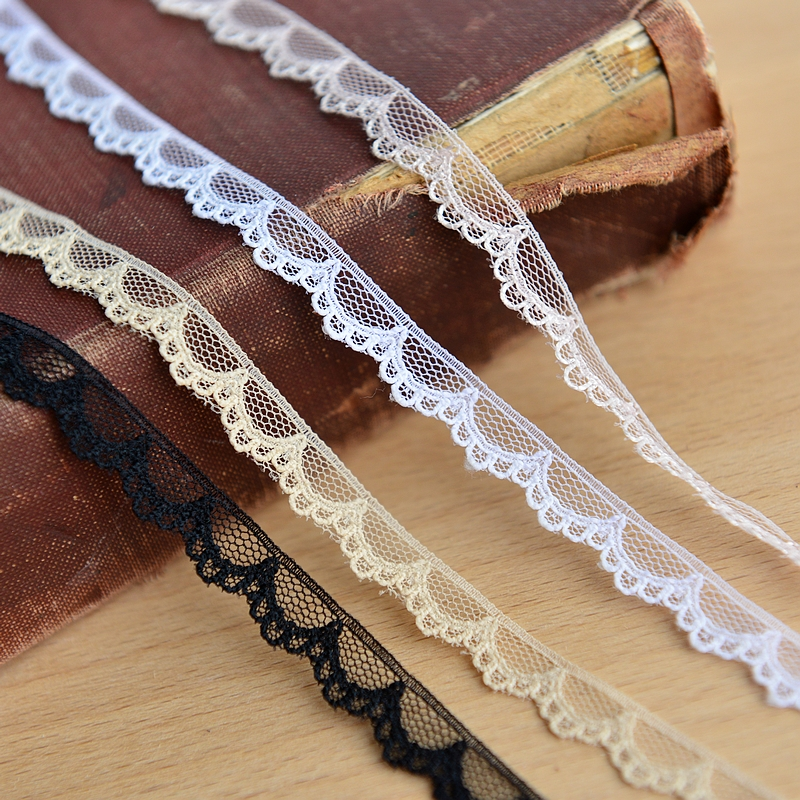 M0101 Taiwan Supple Half-moon Lace Accessories DIY Lace 1cm   Hot Sale