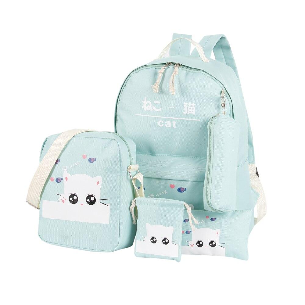 School Bags 4 Set /pcs School Orthopedic Satchel Backpacks For Children School Bag For Girls Mochilas Escolares Infantis